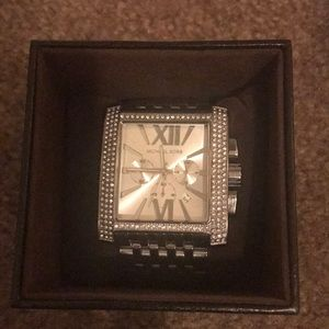 Over size Stainless steal Michael Kors watch